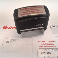 RETURN TO SENDER RUBBER STAMP, SELF-INKING, RED INK, 58 X 22mm - STOP JUNK MAIL