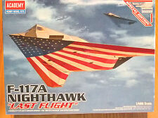 "Academy 1:48 F-117A nighthawk ""dernier vol"" aircraft model kit"
