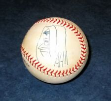 signed original art sketch by ADAM HUGHES GHOST 1995 MLB BASEBALL leather SEXY