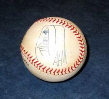 signed original art sketch by ADAM HUGHES GHOST 1995 MLB BASEBALL leather COA