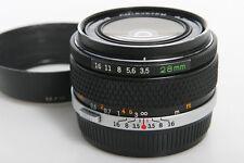 Olympus Zuiko Auto-W 28mm f3.5 Wide Angle Lens - manual focus