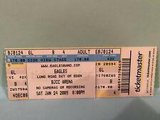The Eagles Concert Ticket Stub 1-24-2009 Bjcc Arena