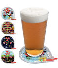 Funwares Pinball Game Coasters - Set Of 4 Plastic Coasters With Handheld Pinball