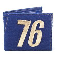 Fallout 76 Embroidered Vault 76 Vintage Denim Bi-Fold Wallet Blue Mw060533Fal