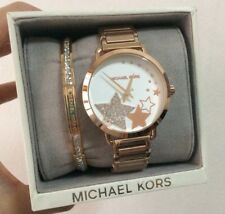 Michael Kors Portia Stars Pave Dial Watch+Bangle MK3795