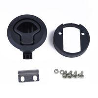 Black Plastic Flush Pull Slam Latch for Marine Boat Deck Hatch Door Car Lock