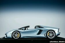 1/18 MR Lamborghini Aventador Roadster LP700 Azzurro Thetys Alcantara Base