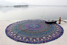 Arredamento Indiano Mandala Rotondo Arazzo Cotone Mat Parete Appeso Yoga Hippie
