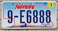 TARGA USA auto NEBRASKA Carovana FAR WEST 888 SOLO targhe americane ORIGINALI