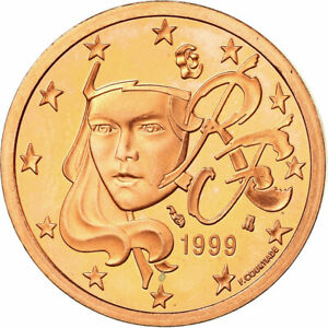 [#772199] France, 5 Euro Cent, 1999, BE, FDC, Copper Plated Steel, KM:1284