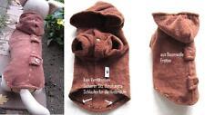 Hunde Pullover Pulli Mantel Baumwolle fein Stück dkl.braun für Chihuahua klkxde