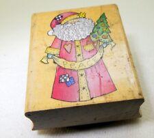 E1565 Folk Santa Rubber Stamp detailed 6X5cm  by  Hero Arts Christmas Peace