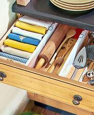 4 Adjustable Drawer Divider Organizer Storage Kitchen Utensil Underware Dresser
