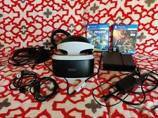 PlayStation VR PS4 VR Headset Bundle Used no camera.
