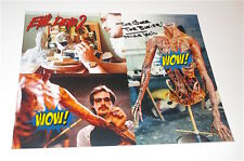 EVIL DEAD 2  /  MIKE TRCIC  /  MAKE UP EFFECTS /  GREAT  COLOR SIGNED  PHOTO