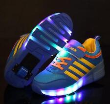 Neu Kinder Mädchen/Jungen LED Heelys Schuhe Farbwechsel Blinkschuhe Sneaker