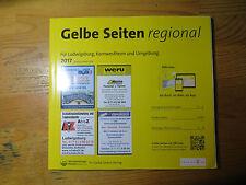 Telefonbuch Gelbe Seiten regional Ludwigsburg, Kornwestheim Ausgabe 2017