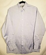 Mens Lord & Taylor Size 15 1/2-34 Sleeve Button Up Dress Shirt Blue