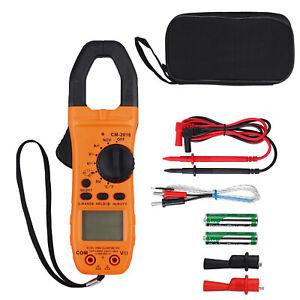 Digital Clamp On Meter Multimeter AC DC Voltmeter Auto Range Volt Amp Tester US