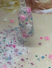 glitter mix acrylic gel nail art    FLOWERS 🌸