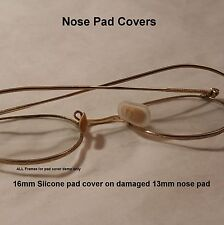Generic 16mm NEW Silicone Nose Pad Covers for antique eyeglasses
