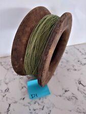 Vintage antique timber wooden fishing hand reel 17cm diameter x 6.5cm deep