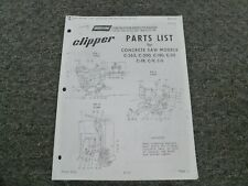 Norton Clipper C 363 C 300 C 180 C 52 Concrete Saw Parts Catalog Manual