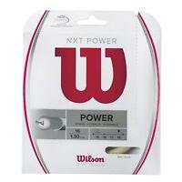 Wilson - WRZ941600 - NXT POWER Gauge 16 Tennis Raquet String - Natural Color