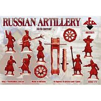 Russian Artillery XVI Century Red Box (16 figures and 2 guns) 1/72 Scale #72071