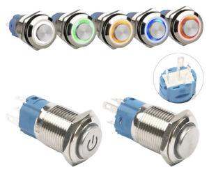 Drucktaster Schalter High Head LED 12V / 220V / 3A Ø12mm Ø16mm Ø19mm Ø22mm IP65