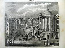 <1837 newspaper fr pg ENGRAVING Birds Eye VIEW of ALBANY NEW YORK  Hudson River