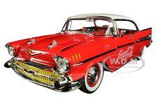 "1957 CHEVROLET BEL AIR HARDTOP ""COCA-COLA"" RED 1/24 DIECAST CAR BY M2 50300-RW03"