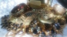 Vintage Jewelry Lot Huge 3.8lbs Gold Tones Necklaces, Bracelets and More....
