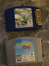 N64 Nintendo 64 LOT -- Bassmasters 2000 + Bass Hunter 64 -- USA Masters NICE!