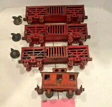 New ListingVintage Toys, Ideal Stock Cars & Caboose with Horses, Cast Iron