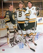 Ray Bourque Cam Neely Boston Bruins Signed Pose with Moog 16x20