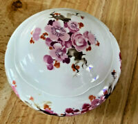 Wallendorf Floral Lidded Trinket Dish 1764 Germany Porcelain Gorgeous Piece!