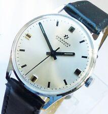 Extrem Schöne Junghans 17Jewels in Silber Herren Vintage Armbanduhr mit gebläute