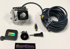 Underwater DIVE Housing 25' RCA Live Video Feed For Gopro HD Hero3+Hero4 Camera
