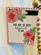 Handmade floral card. birthday , thank you, friend, just because cards
