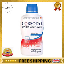 Corsodyl Daily Gum Care Mouthwash with Fluoride, 500 ml, Cool Mint