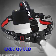 LED T6 18650 Rechageable Zoomable AAA Battery Headlight Headlamp