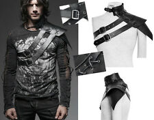 Collier épaulette armure gothique steampunk bondage fetish cuir Punkrave homme
