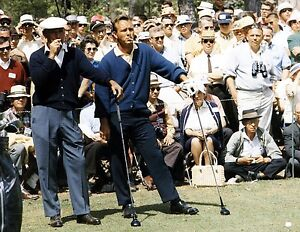 BEN HOGAN AND ARNOLD PALMER GOLFING GREATS IN THIS GREAT CLASSIC 8x10 PHOTO