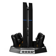 Vertical charge Stand Dual Cooler Fans For PS4 Playstation 4 Console controller