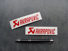 2x stickers auto moto Akrapovic Rouge 10cm haute temp decals aufkleber A02-027
