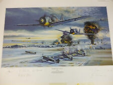 Wake Up Call Artist Proof by Robert Bailey 6 Luftwaffe signers w/extra print