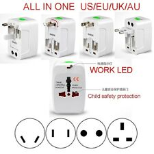 ALL-IN-ONE USA UK US EU AU Travel Power Voltage Adapter Converter Plug 110-250V