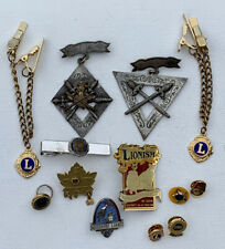 1874 Knights Of Pythias, American Legion, Lions International Pin Collection
