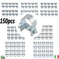 150pezzi Fascette Stringitubo in Acciaio Zincato per Tubo Carburante Benzina
